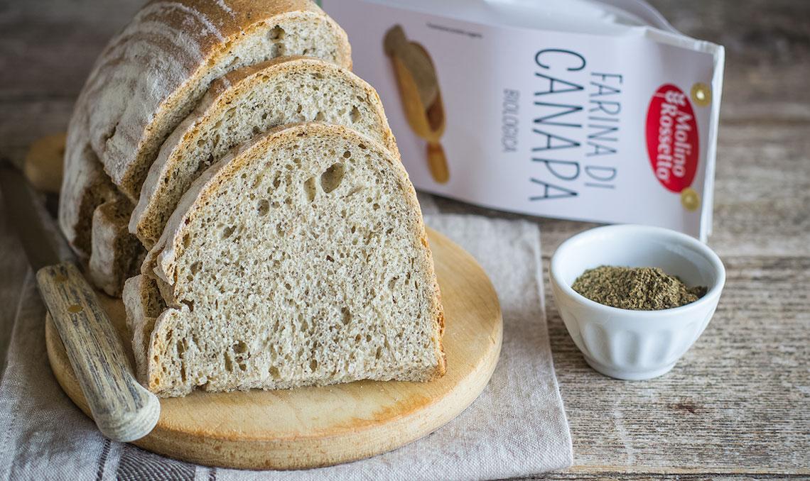 Il mio pane con farina di canapa