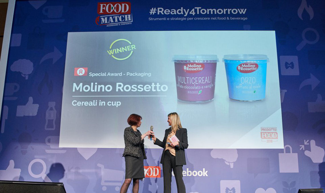 Cereali in cup Molino Rossetto premiati come Prodotto Food 2018